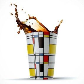Copo 500ml Mdecore Piet Mondrian AmareloÚnico