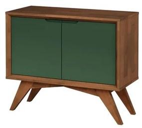Buffet Uriel 2 Portas Pinhão e Verde Musgo - Wood Prime MP 27575