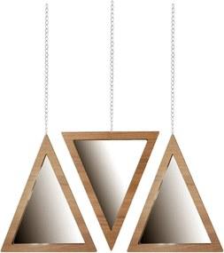Trio Espelho Triângulo Crie Casa Marrom