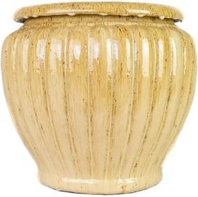Vaso Vietnamita Cerâmica Importado Pumpkin Pequeno Areia D45cm x A50cm