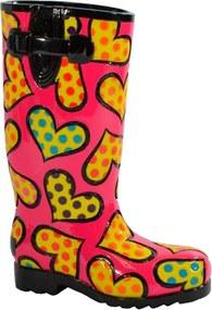 Escultura Shoes Rainboot - Romero Britto - em Resina - 18x13 cm