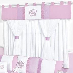 Cortina Quarto de Bebê Realeza Rosa