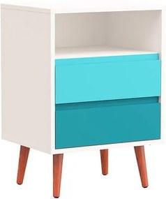 Mesa de Cabeceira Degradê Azul - Wood Prime PA 6063