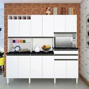 Cozinha Malbec com 12 Portas - Ronipa Branco