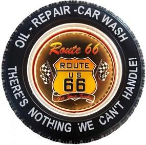 Pneu Decorativo Com Luzes De Led E Controle Remoto Route 66
