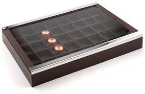 Caixa Porta Cápsulas Nespresso Shefield Plate - Inox  Inox