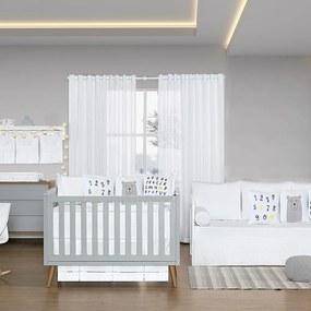 Quarto de Bebê Blanc Amarelo 26 Peças