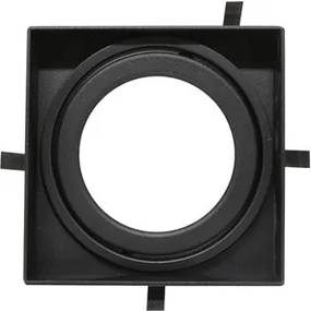 Plafon Embutir Alumínio Preto No Frame 2