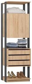 Closet 1006C Carvalho/Cinza - Be Mobiliario