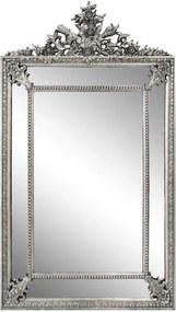 Espelho Retangularcom Moldura Prata Decorativo Grande