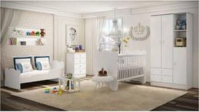 Mini Cama Baby Branca Percasa