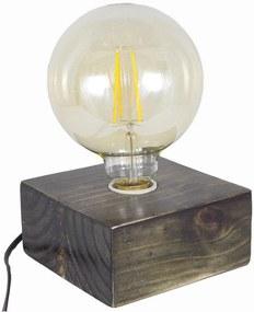 Luminária de Mesa Bloco Carvalho Envelhecido Cosi Dimora