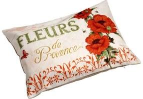 Almofada de Linho Estampa de Flores Provence