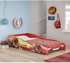 Mini Cama Infantil Carros Disney Vermelho - Pura Magia