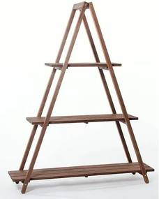 Estante Escada Troia Stain Nogueira 150cm - 61411 Sun House