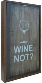 Quadro Porta Rolhas de Vinho Wine Not
