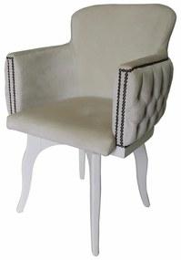 Cadeira Giratória New Pure com capitonê - Branco Provençal Kleiner Schein