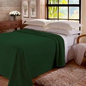 Manta King Jolitex -Lisa Color Fleece Verde Floresta