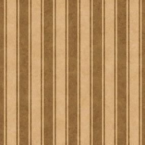 Papel De Parede Adesivo Listrado Marrom E Bege Vintage (0,58m x 2,50m)