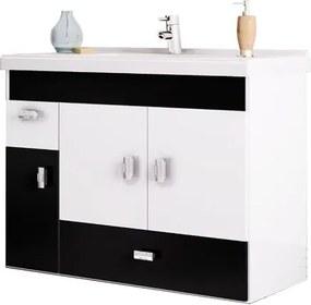 Gabinete para Banheiro 80cm MDF Orquídea Preto 78,8x59x35cm - Cozimax - Cozimax