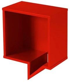 Prateleira Cartoon Quadrada Laca Vermelho - 27224 Sun House
