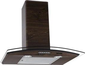 Coifa de Parede Vidro Curvo Slim 60 cm Wood 220v - Fogatti