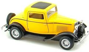 Miniatura 1932 Ford Coupe Escala 1:34 Amarelo