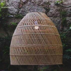 Luminária de Teto Bali 60cm | Rattan