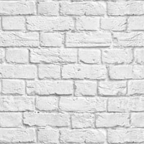 Papel De Parede Adesivo Tijolo Branco Contém 3 Rolos De 0,60X3m Caixa 812