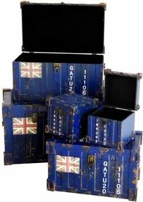 Conjunto de Baús Adolph Azul