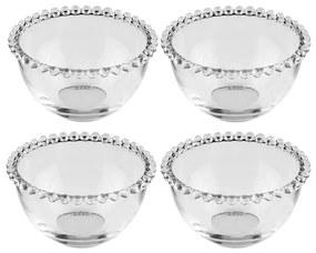 Jogo De Bowls De Cristal Pearl 4 Peças 9cm 27896 Wolff