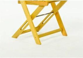Cadeira Dobrável Boteco Stain Amarelo - Mão & Formão