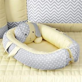 Ninho Bebê Redutor Berço Cachorrinho Amarelo GrÁo de Gente Amarelo