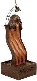 Escultura Decorativa de Resina Fonte de Água Gato