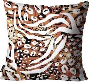 Almofada Animal Print Marrom45x45cm