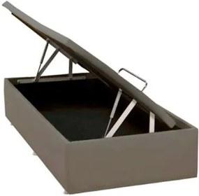 Base de Cama Box Bau Physical Corino Bege Solteiro 88 cm (LARG) - 52555 Sun House