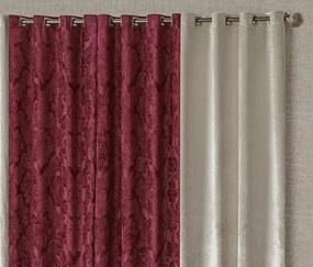 Cortina Casual 3,00m x 2,50m Veludo para Varão Simples - Vermelho