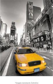 Poster Taxi Amarelo - Times Square (60x90cm, Apenas Impressão)