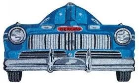 Capacho Carro Antigo Azul