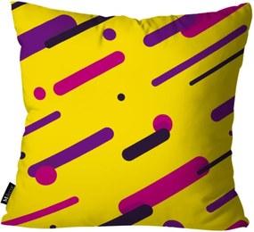 Kit com 3 Almofadas Mdecore Abstrato Amarelo 55x55