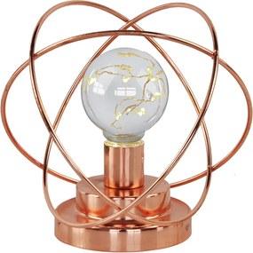 luminária DAMON led em metal cobre 17cm ilunato QF0005