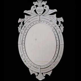 Espelho Clássico Veneziano Oval 90 cm x 52 cm