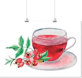 Pôster Casa Da Mãe Joana Aquarela Chá Vermelho