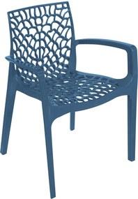 Cadeira Gruvyer Com Braço Azul OR Design