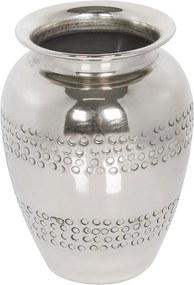 Vaso De Alumínio Prata Cromado