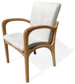 Cadeira com Braço VK Madeira Maciça Design by Vladimir Kagan