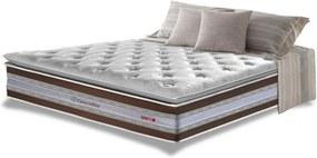 Colchão Casal de Molas Ensacadas D33 com Pillow TOP Cama inBox Select 138x188x32 Café