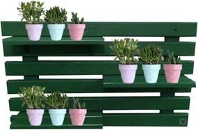 Floreira Vertical Madeira ALCE COUCH Vaso Parede Verde 60Cm