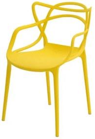 Cadeira INFANTIL Allegra Polipropileno Amarela - 38190 Sun House