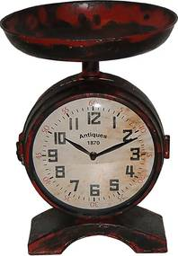 Relógio Fruteira com 2 Faces Modelo Balança Red